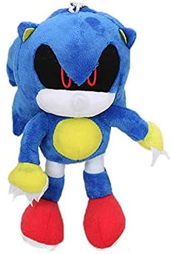 Buyaoku Juguete de Felpa 18cm Llavero de Felpa sónico Juguete de Metal muñeco de Peluche sónico Super Sonic Shadow Puppet Knuckle Tail muñeca Regalo