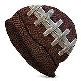 Jimbseo Fútbol Americano Invierno Beanie Sombrero Bufanda Conjunto Forro Polar Warm Knit Grueso Cráneo Cap para