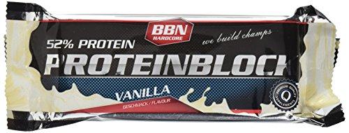 Best Body Nutrition - Hardcore Protein Block 1 x 90g Riegel Vanille (3er Pack)