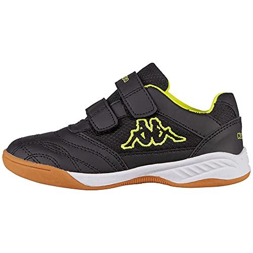 Kappa Unisex Kinder Kickoff Sneaker, Noir (Black/Yellow 1140), 30 EU
