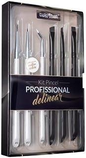 Kit com 6 pincéis profissionais para delinear - WB700, Macrilan