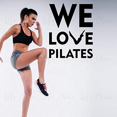 Adhesivo de pared de vinilo para ejercicio Pilates decoración del centro de Fitness nos encanta la cita de Pilates pegatinas de pared extraíble Mural