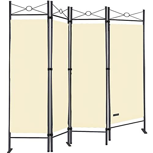 Deuba Paravent Lucca 180x163 cm Raumteiler Verstellbar 4 TLG Trennwand Spanische Wand Raumtrenner...
