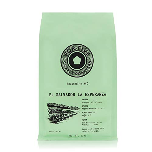 For Five Coffee Roasters - Roasted In NYC - El Salvador La Esperanza Light Roast (Origin: Apaneca, El Salvador), Whole Bean 12oz