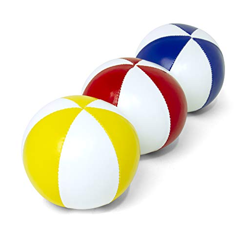 GloFX Juggling Balls [Pack of 3] for Beginners to Advanced Jugglers - No Bounce Design - Durable...