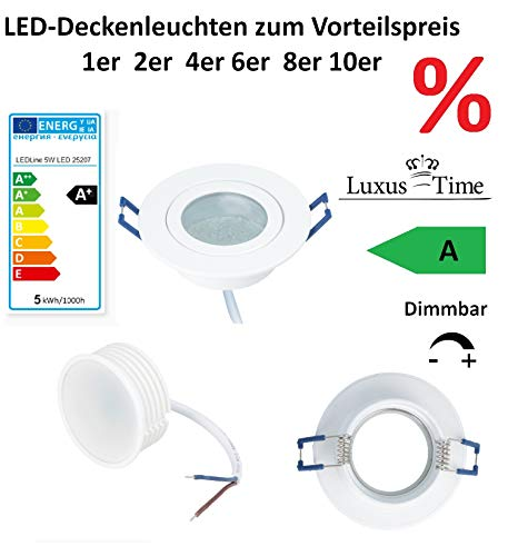 LED inbouwspots pakket voor een gunstige prijs lichten dimbaar koud wit IP44 plafond spots LED 5W-Cold-White in White A+ wit