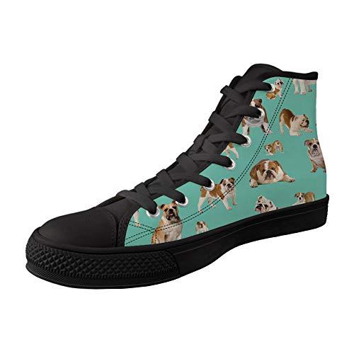 MODEGA Bulldog De Impresión Zapatos Superiores Altos