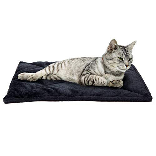 Furhaven Pet Dog Bed Heating Pad | ThermaNAP Quilted Faux Fur Insulated Thermal...