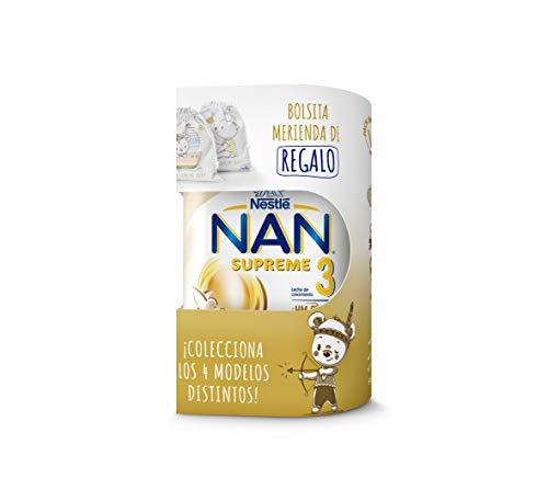 Nan Supreme 3 con Bolsita Merienda de Regalo Leche de Crecimiento en Polvo Premium, Bote 800 Gr