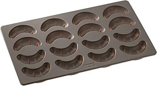 Lurch 65015 FlexiForm Kipferl / Backform für 16 Kipferl aus 100% BPA-freiem Platin Silikon