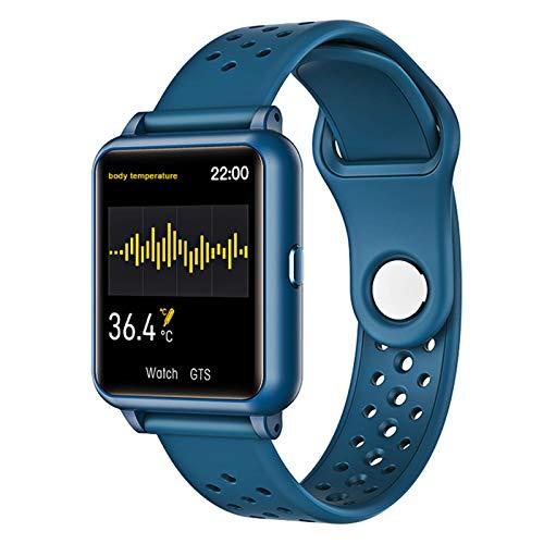 LTLGHY Smartwatch Mujer Hombre, Reloj Inteligente Pantalla Táctil Completa, Pulsera Impermeable IP68 De Monitor De Sueño Contador De Caloría Pulsómetros Podómetro para Android iOS,Dark Blue