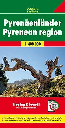 Los Pirineos, mapa de carreteras. Escala 1:400.000. Freytag & Berndt.: Wegenkaart 1:400 000 (Auto karte)