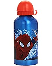 Kids Euroswan Cantimplora de 500 ml, Estampado Spiderman, Aluminio, Multicolor, 15x10x5 cm
