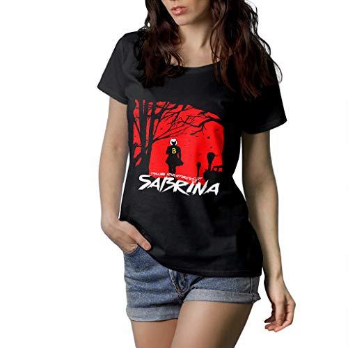 Fanta Universe Sabrina - T-Shirt Donna - 100% Cotone (L, Nero)
