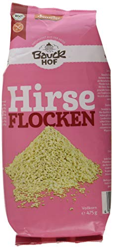 Bauckhof Hirseflocken Vollkorn glutenfrei Demeter, 3er Pack (3 x 475 g)