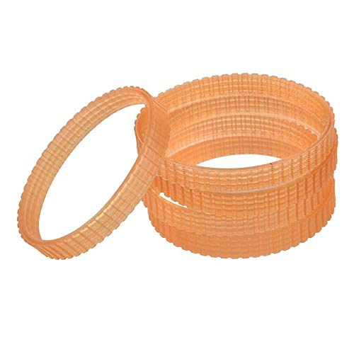 Replacement Part for M.C 5 Pcs 9.6mm Width Electric Planer Drive Belt for Hitachi F20A - (Type: Orange)