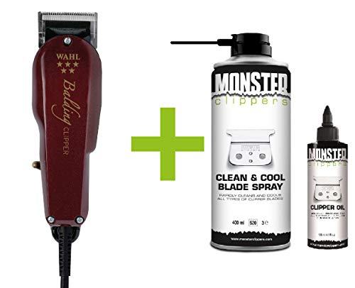 Wahl Balding Clipper Tondeuse + Monster Clippers Clean & Cool Blade Spray & Olie