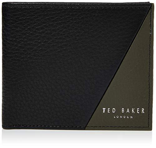 Ted Baker ROBEC, Accessori da Viaggio-Portafoglio bi-Fold Uomo, Nero, Taglia Unica