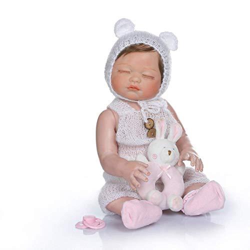 18 Pulgadas 47 cm Realista Dulce Suave Silicona Vinilo Cuerpo Completo Trillizos Renacidos Muñecas de bebé Premie Mano Deed Pintura Pinky Look Muñeca recién Nacida Lavable para niña