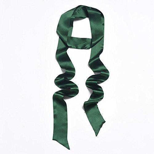 KYXXLD Foulard Foulard en Soie Petit Ruban Ruban Tout-Match Femelle Vert noirâtre