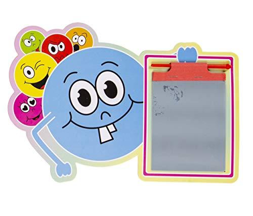 LG-Imports Tablero de dibujo con bolígrafo, emoticonos, azul