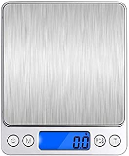 Cool Home 計量器 デジタルスケール 0.1gから3000gまで計量可能 電子天秤 風袋引き機能 計数機能 オートオフ機能付き 精密スケール 調理用電子はかり シルバー