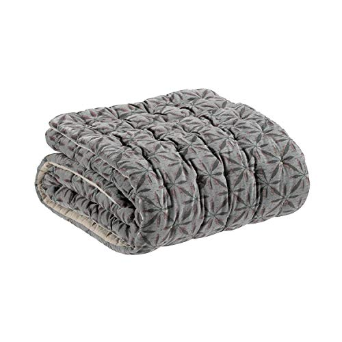 Vivaraise - Edredon - Edredon hiver - Edredon épais et chaud - Couverture - Edredon de couette - HOUSSE 100% Coton Garnissage 100% Polyester - Ecume Ecru - Anime Jade