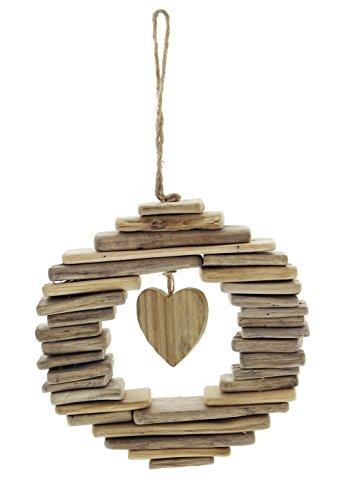 FRANK FLECHTWAREN Kranz Wooden Heart