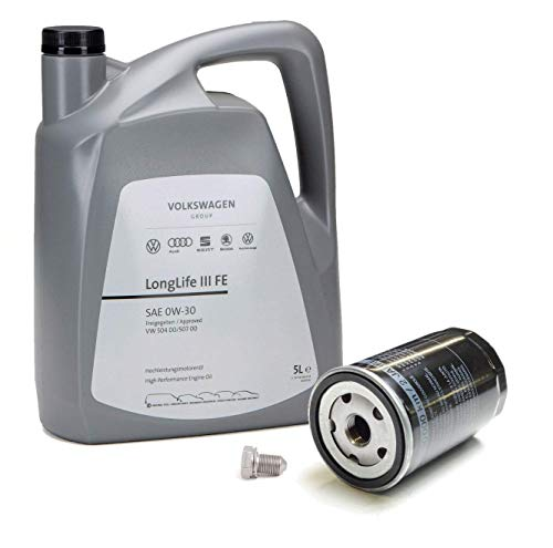 Duo Aceite Motor Original Volkswagen LongLife3 0W30 5 lts 504 507 + Filtro aceite motores 1.6/1.8T/2.0FSI 06A115561B