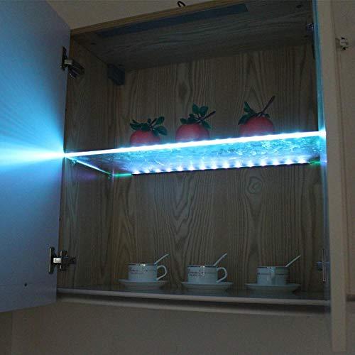 LED-Glasregal unter Kabinett beleuchtet Glasrand-Rückseiten-Licht 30/40 / 50CM...