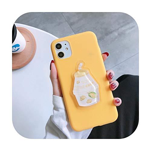 Funda 3D para iPhone X XR XS 11 Pro Max 6S 6 7 8 Plus de aguacate con diseño de oso limón y fruta, para iPhone SE 2020, funda Etui