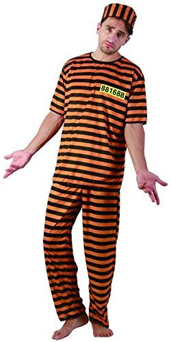 Rire Et Confetti - Fibpri002 - Déguisement pour Adulte - Costume Prisonnier Jaune - Homme - Taille L