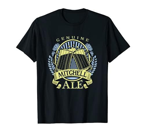 Mitchell Apellidos Guys Mitchell Gift   Logotipo personalizado de cerveza Camiseta