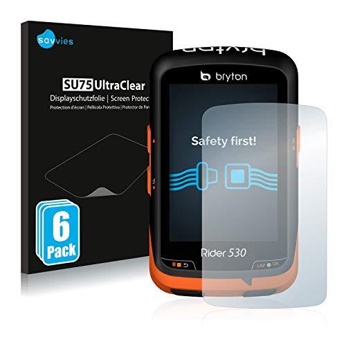 Savvies Bryton Rider 530 Protector Pantalla Pelicula Protectora [6 Unidades] Screen Protector
