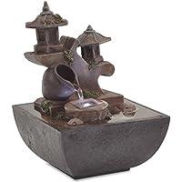 MonthYue Fuentes Decorativas Fuentes De Agua para Interiores Artesan/ías De Resina Regalos Fuente De Feng Shui Fuente De Escritorio para El Hogar