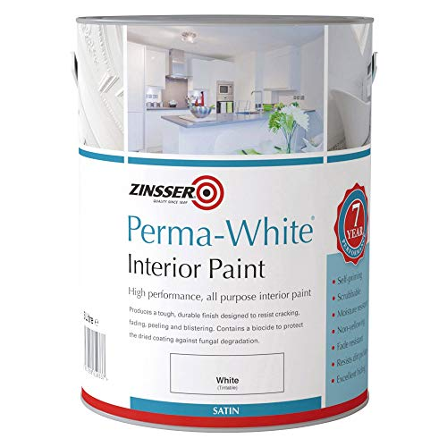 Zinsser ZN7050001A1 Perma-White Interior Water-Based Satin 5 Litre