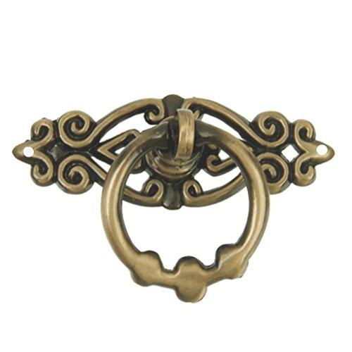 WINOMO Vintage Puerta de rectificador de armario de cocina cajón Ring Tirador Tiradores Tiradores 10pcs (latón antiguo)