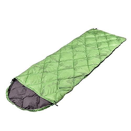 El Saco De Dormir De Plumón Monocromático Es Adecuado Para Viajes Al Aire Libre, Campamentos Y Campamentos Para Mantenerse Calientes. Saco De Dormir De Plumón Tipo Sobre Cosible 210x70cm(1000g)