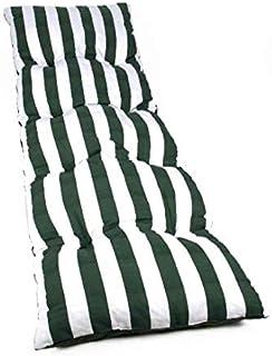 Dabuty Online, S.L. Colchón Tumbona Acolchada Classic 180x55X5 cm Texturas (Rayas Verde)