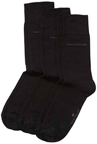 TOM TAILOR Herren Socke 3 er Pack 9003 / TOM TAILOR men basic socks 3 pack, Gr. 39-42, Schwarz (black - 610)