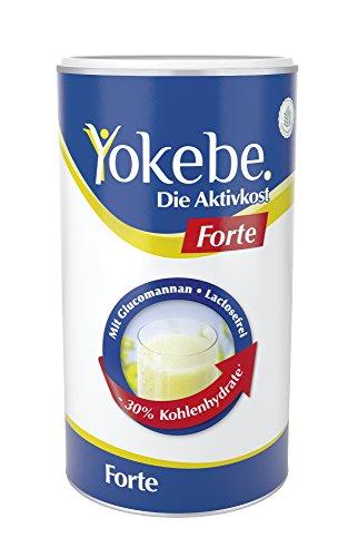 Yokebe forte Diät Shake zum schnelleren Abnehmen, 30% weniger Kalorien, Laktosefrei, 10x Mahlzeitersatz als Pulver mit hochwertigen Proteinen, mit essentiellen Vitaminen und Spurenelementen