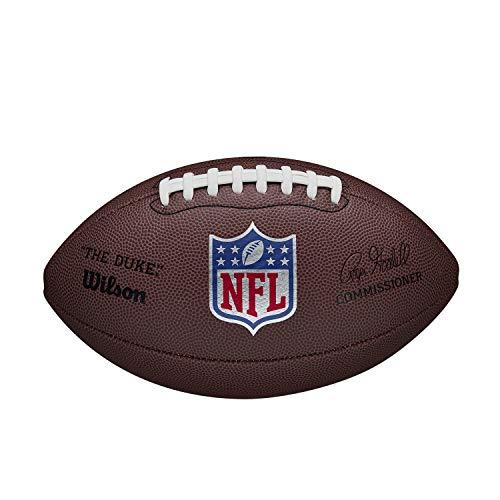 Wilson Ballon de Football Américain, NFL DUKE REPLICA, Cuir Mélangé, Taille Officielle, Marron, WTF1825XBBRS