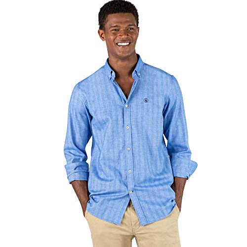 El Ganso Urban Scotland 1 Camisa casual, Azul (Azul 0040), Medium para Hombre