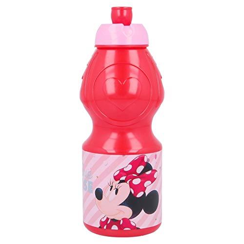ALMACENESADAN 2661; Botella Sport Disney Minnie Mouse; Capacidad 400 ml; Producto de plástico; No BPA