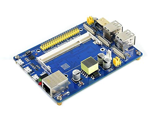 Waveshare Compute Module IO Board with PoE Feature Composite Breakout Board for Developing with Raspberry Pi CM3 / CM3L / CM3+ / CM3+L
