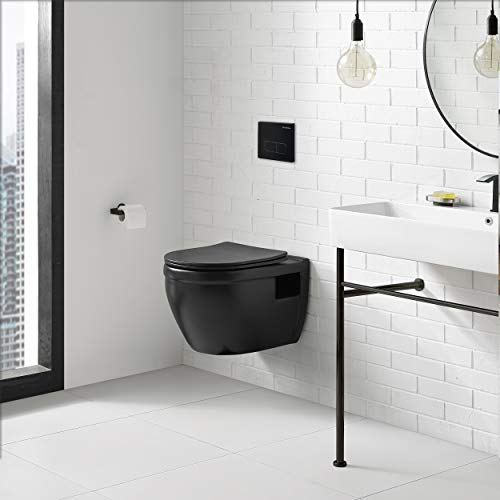 Swiss Madison Well Made Forever SM-WT450MB Ivy Wall Hung Toilet, Matte Black