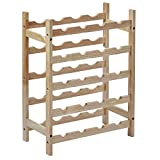 Amazon Basics Solid Wood 5-Tier Wine Rack