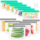 【Reusable Storage Bags With Food Grade Material】: Baily Cheer reusable storage bags made by food-grade PEVA material which means the bags are BPA-free, PVC FREE,chloride- free and lead-free, the properties of reusable & recyclable can better protect ...