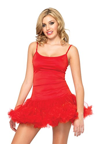 Reba's Red Dress Costumes - Leg Avenue Women's Petticoat Dress, Red,
