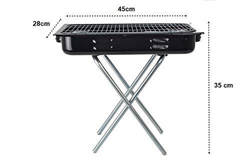 Praktischer Koffergrill Klappgrill ideal für Camping, Urlaub & Picknick - tragbarer Mini Faltgrill für spontane Grillabenteuer in 3 verschiedenen Größen (45 x 28 x 35 cm)
